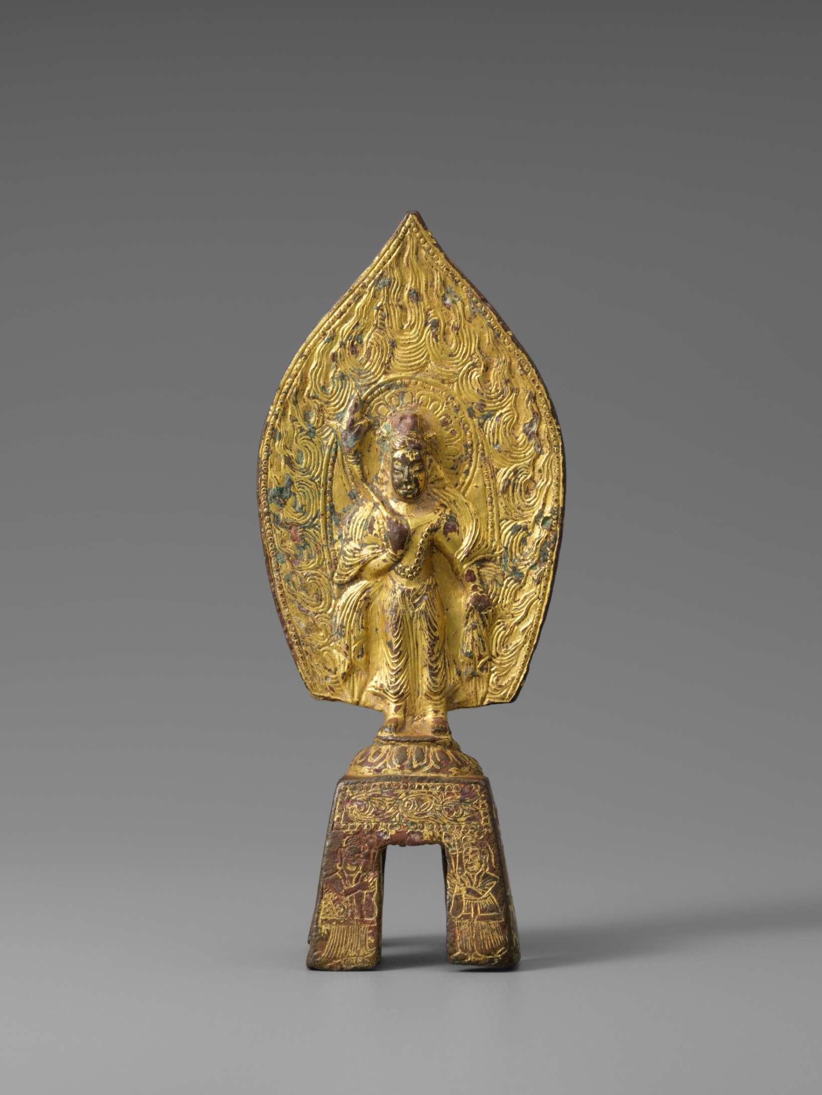 鍍金仏立像 北魏時代 景明元年銘(500)